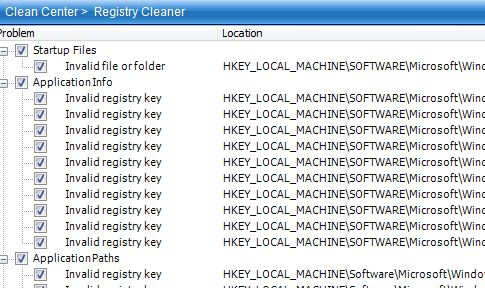 uflysoft registry cleaner report