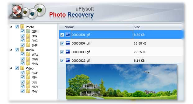 Recover AVI video with uFlysoft Video Recovery