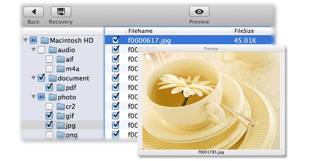 method for user to get lost Mac hard drive file